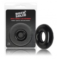 Sextoys - Cockrings et gaines - Rock solid black donut 2x