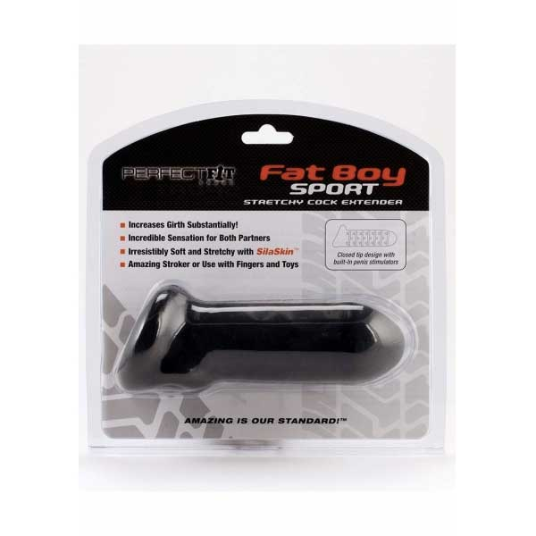 Étui pénien Fat Boy 16,5 cm Black