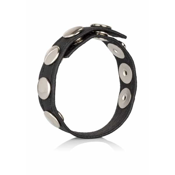 Cockring  multi snap ring cuir 5 pressions
