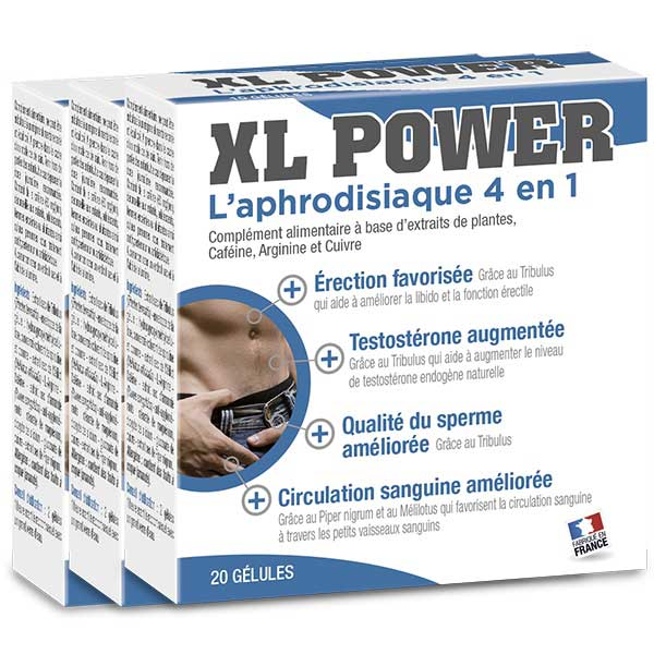 Pack XL Power ( 3 X 20 gélules)